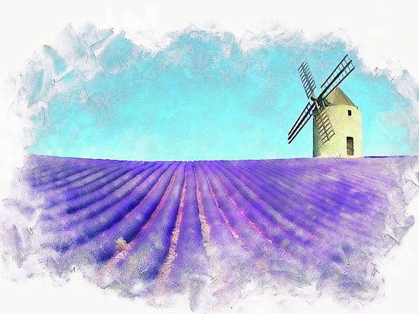 Painting - Lavender Fields - 21 by Andrea Mazzocchetti