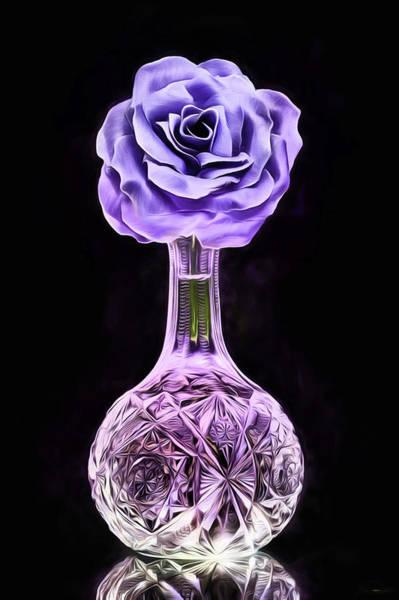 Purple Rose Digital Art - Lavender Rose Still Life by JC Findley