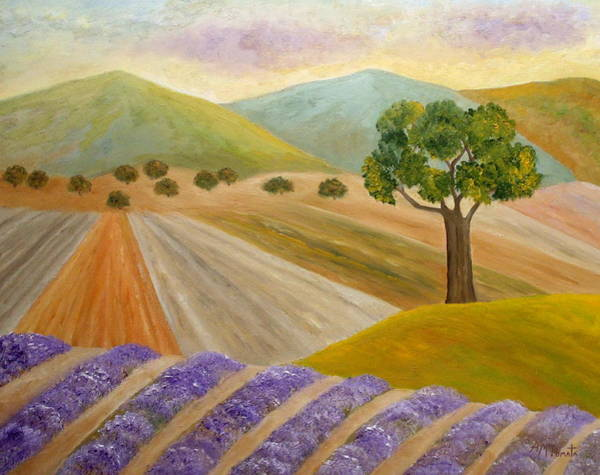 Painting - Lavender Sundown by Angeles M Pomata