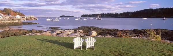 Stonington Photograph - Lawn Chairs At Lobster Village, Tenants by Visionsofamerica/joe Sohm