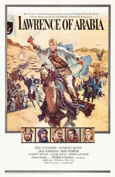 Wall Art - Photograph - Lawrence Of Arabia 1962 by Howard Terpning