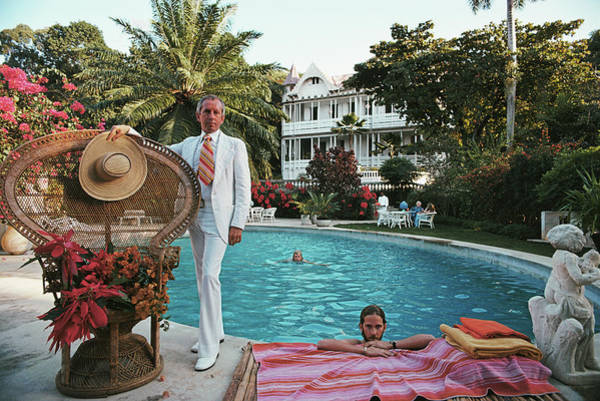 Villa Photograph - Lawrence Peabody II by Slim Aarons