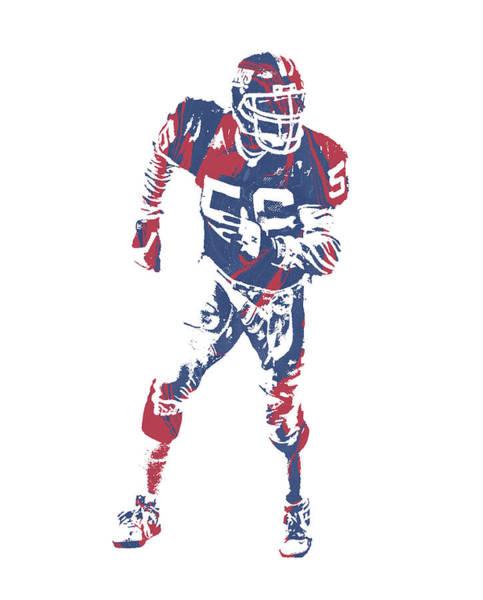 Wall Art - Mixed Media - Lawrence Taylor New York Giants  Pixel Art 2 by Joe Hamilton