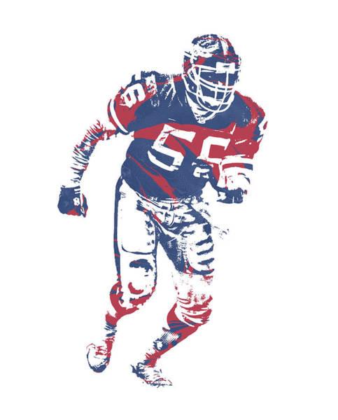 Wall Art - Mixed Media - Lawrence Taylor New York Giants  Pixel Art 3 by Joe Hamilton