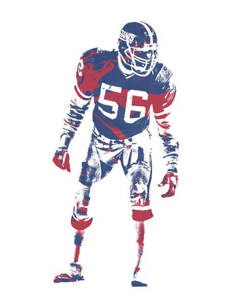 Wall Art - Mixed Media - Lawrence Taylor New York Giants  Pixel Art 4 by Joe Hamilton