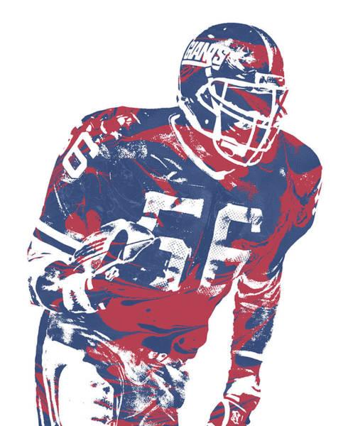 Wall Art - Mixed Media - Lawrence Taylor New York Giants  Pixel Art 5 by Joe Hamilton