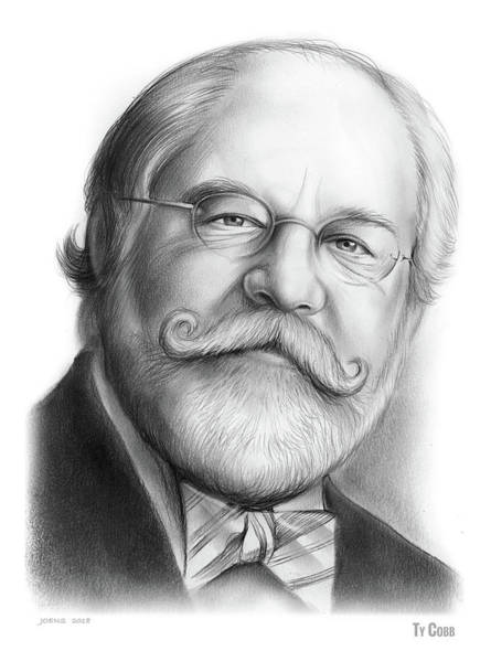 Political Wall Art - Drawing - Lawyer Ty Cobb by Greg Joens