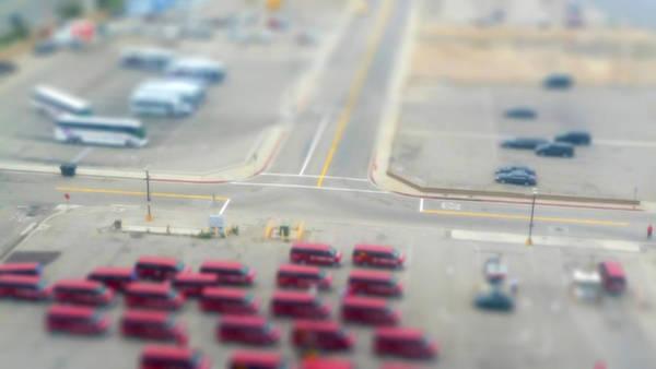 Parking Lot Photograph - Lax Airport Parking Lot - Tilt Shift by John K. Goodman