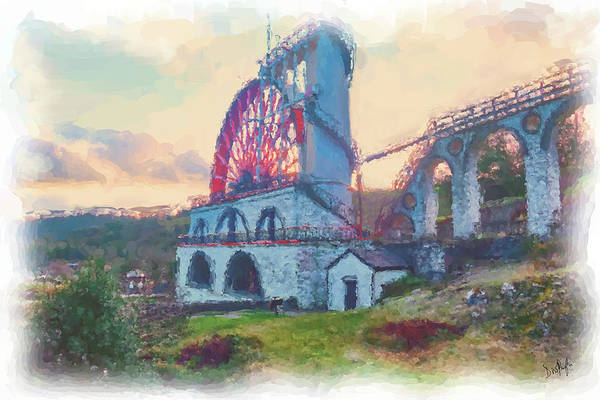 Wall Art - Digital Art - Laxey Wheel 2 by Digital Painting