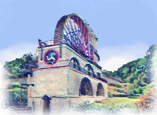 Wall Art - Digital Art - Laxey Wheel 6 by Digital Painting