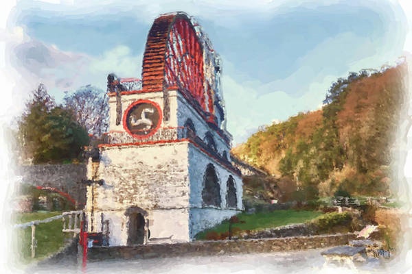 Wall Art - Digital Art - Laxey Wheel 8 by Digital Painting