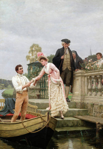 Wall Art - Painting - Lay Thy Sweet Hand In Mine And Trust In Me, 19th Century by Edmund Blair Leighton