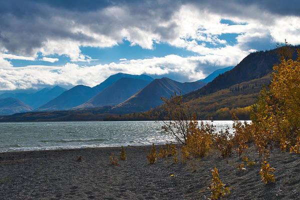 Haines Falls Photograph - Layers - Dezadeash Lake - Yukon Territory by Cathy Mahnke