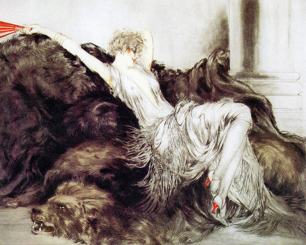 Wall Art - Painting - Laziness - Digital Remastered Edition by Louis Icart