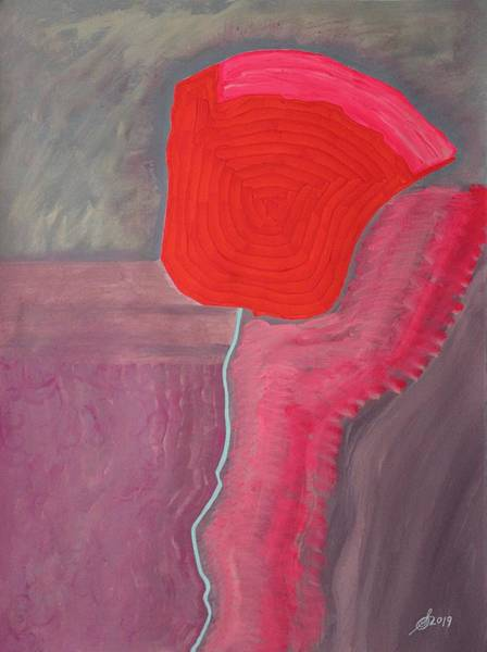 Painting - Lazy Poppy Original Painting by Sol Luckman