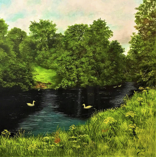 Wall Art - Painting - Lazy Summer Day by Roena King