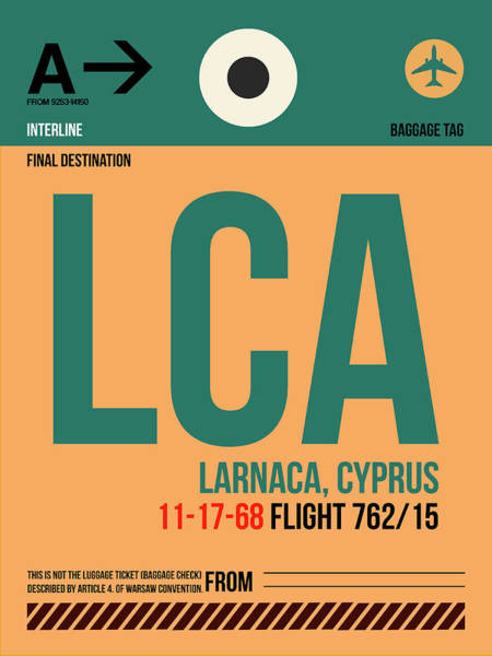 Wall Art - Digital Art - Lca Cyprus Luggage Tag I by Naxart Studio