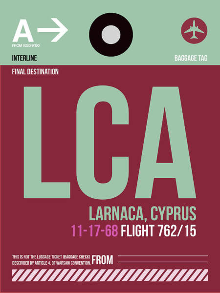 Wall Art - Digital Art - Lca Cyprus Luggage Tag II by Naxart Studio