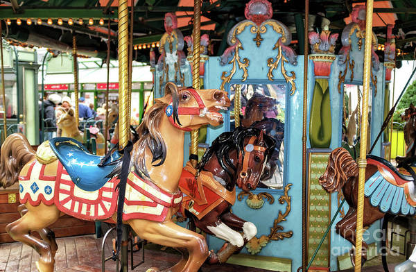 Photograph - Le Carrousel Colors At Bryant Park In New York City by John Rizzuto