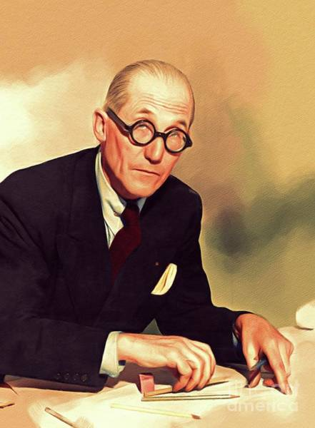 Planner Wall Art - Painting - Le Corbusier, Architect by John Springfield