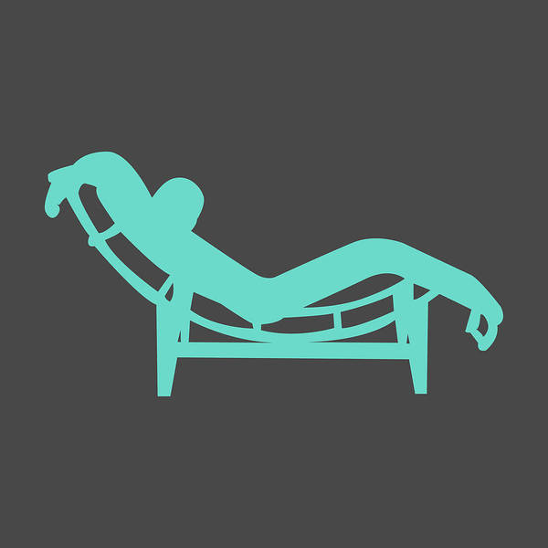 Mixed Media - Le Corbusier Chaise Lounge Chair I by Naxart Studio