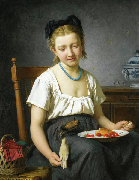 Wall Art - Painting - Le Gouter by Emile-Auguste Hublin