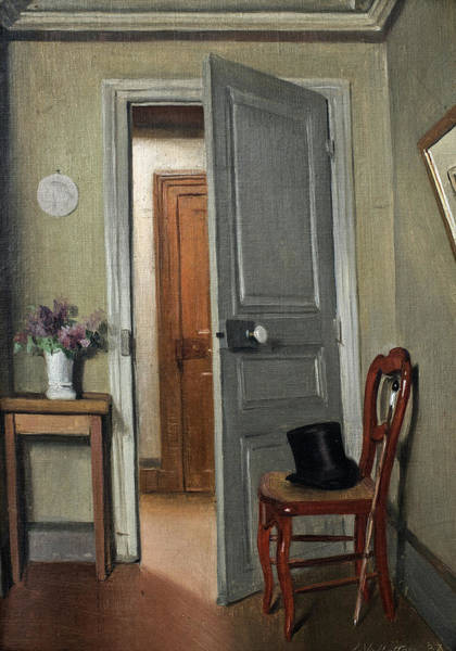 Wall Art - Painting - Le Haut-de-forme, Interieur Ou La Visite, 1887 by Felix Vallotton