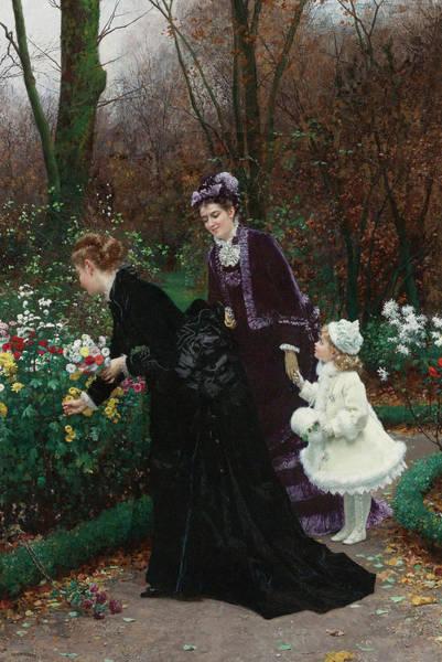 Crush Painting - Le Jardin De La Marraine by Marie-Francois Firmin-Girard