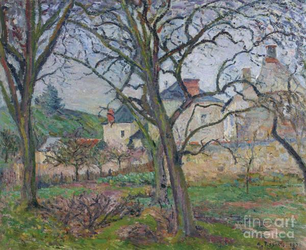 Wall Art - Painting - Le Jardin De Maubuisson, Vu Vers La Cote Saint-denis, Pontoise, 1876  by Camille Pissarro