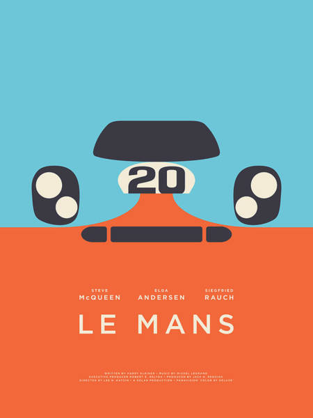 Wall Art - Digital Art - Le Mans Movie - B by Ivan Krpan