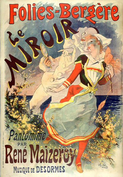 Painting - Le Miroir Pantomime Vintage French Advertising by Vintage French Advertising