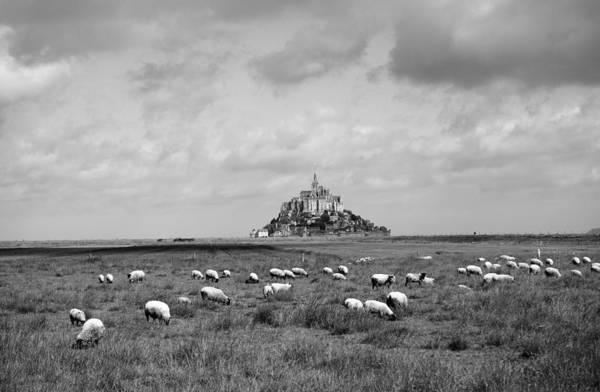 Photograph - Le Mont Saint Michel 5b by Andrew Fare