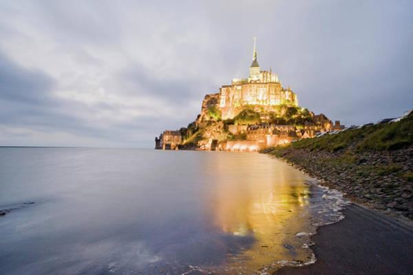 Ancient Photograph - Le Mont Saint Michel, Normandy, France by John Harper