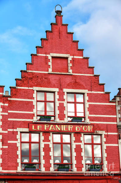 Wall Art - Photograph - Le Panier D'or In Bruges by John Rizzuto