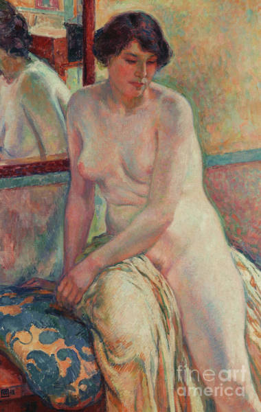 Wall Art - Painting - Le Repos Du Modele by Theo van Rysselberghe