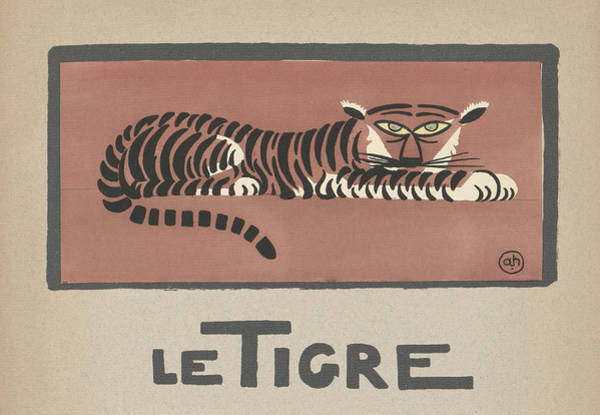 Horizontal Digital Art - Le Tigre Illustration by Graphicaartis