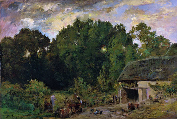 Wall Art - Painting - Le Tonnelier - Digital Remastered Edition by Charles-Francois Daubigny