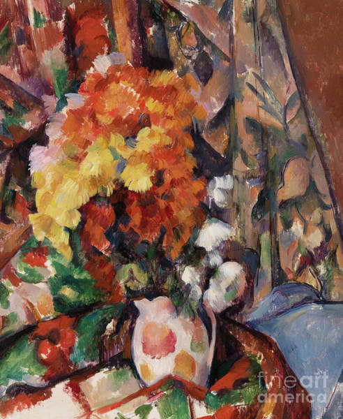 Bunch Painting - Le Vase Fleuri by Paul Cezanne