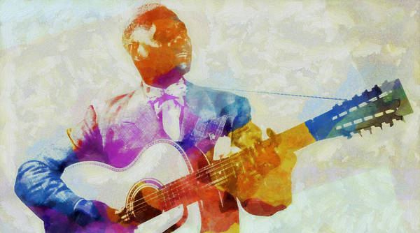 Painting - Lead Belly  by Dan Sproul