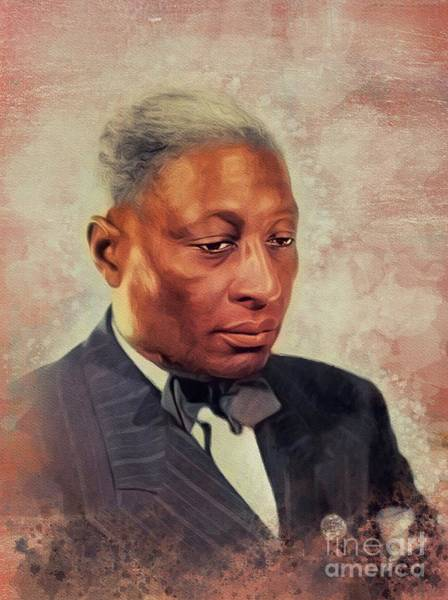 Wall Art - Painting - Lead Belly, Music Legend by John Springfield