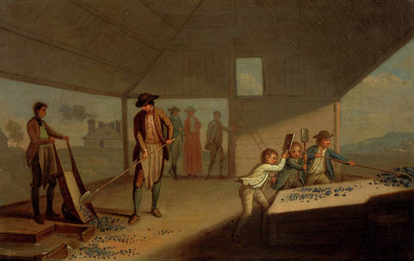 Lead Mine Wall Art - Painting - Lead Processing At Leadhills - Pounding The Ore by David Allan