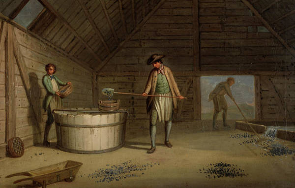 Lead Mine Wall Art - Painting - Lead Processing At Leadhills - Washing The Ore by David Allan