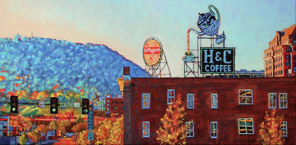 Roanoke Wall Art - Painting - Leading Green - Antique Signs Of Roanoke Virginia by Bonnie Mason