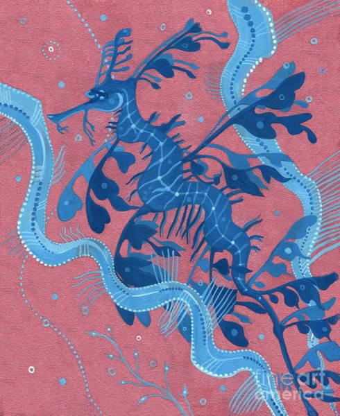 Painting - Leafy Sea Dragon Seahorse by Julia Khoroshikh