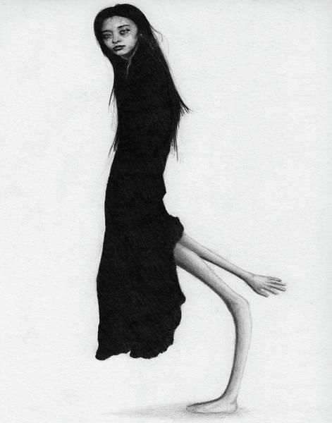Drawing - Leaning Woman Ghost - Artwork by Ryan Nieves