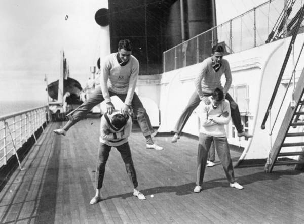 1923 Photograph - Leapfrog by Topical Press Agency