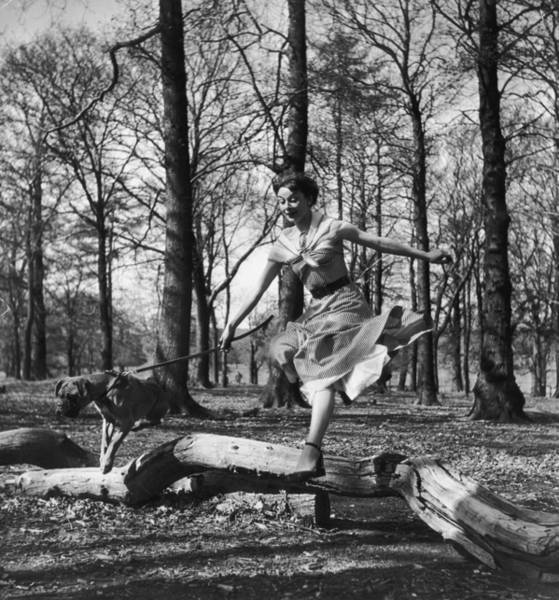 Revue Photograph - Leaping Audrey by Hulton Archive