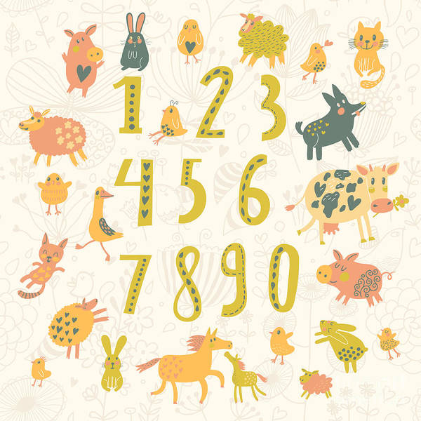 Wall Art - Digital Art - Learn To Count. All Numbers And Funny by Smilewithjul