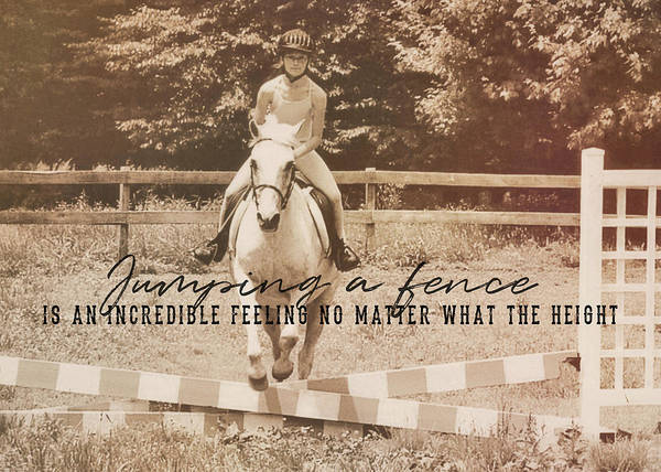 Photograph - Learning To Fly Quote by Dressage Design