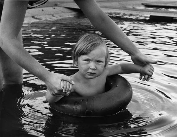 Learning Photograph - Learning To Swim by George Hales
